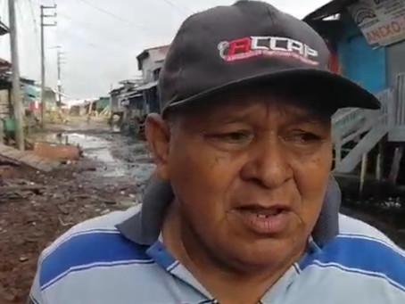 EN PUNCHANA PIDEN APOYO EN CALLE 11 DE OCTUBRE POR HUNDIMIENTOS CAUSADO POR LAS LLUVIAS