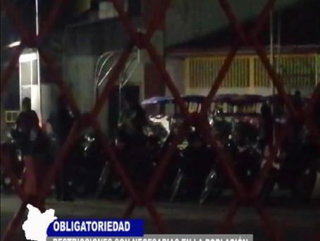 INTERVENCIÓN POLICIAL Y CONSTANTE PATRULLAJE CON DETENIDOS POR DESACATO
