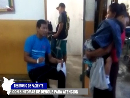 DENGUE Y LEPTOSPIROSIS PRESENTAN PACIENTES QUE HAN COLAPSADO HOSPITAL IQUITOS