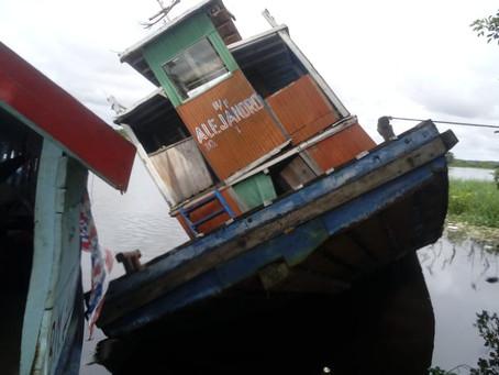 Embarcación abandonada en Moronacocha es guarida de delincuentes
