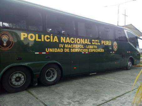La PNP en Iquitos pone a disposición Bus para movilizar a la población