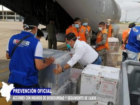 INSUMOS DE BIOSEGURIDAD PARA EMERGENCIA COVID 19 EN IQUITOS CON SEGUIMIENTO DE CASOS