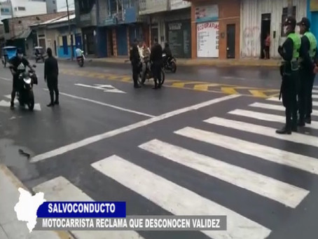 SALVOCONDUCTO: MOTOCARRISTAS RECLAMAN POR VALIDEZ DE DOCUMENTO Y UN HORARIO PARA TRANSITAR TEMPRANO