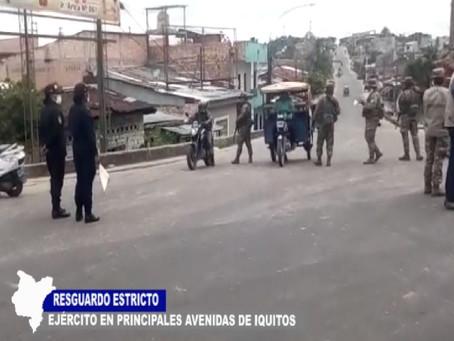 RESGUARDO ESTRICTO DE FUERZAS ARMADAS FRENTE A CONDUCTORES Y PEATONES QUE NO ACATAN CUARENTENA