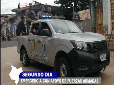 Resguardo Policial hoy segundo día de patrullaje de FF.AA. acatamiento para quedarse en casa