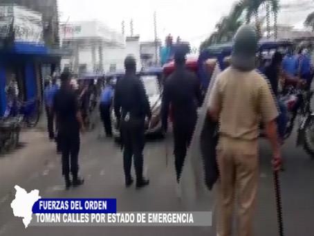 EN IQUITOS FUERZAS DEL ORDEN TOMAN CALLES POR ESTADO DE EMERGENCIA