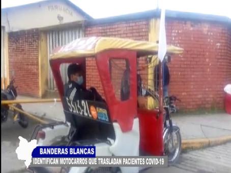 BANDERAS BLANCAS IDENTIFICAN A MOTOCARROS QUE TRASLADAN PACIENTES Y SOSPECHOSOS DE COVID-19