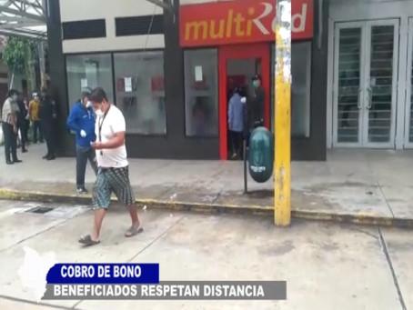 COBRO DE BONO POR BENEFICIARIOS RESPETANDO DISTANCIA EN EL BANCO DE LA NACIÓN