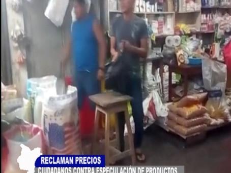 CIUDADANOS CONTRA ESPECULACIÓN DE PRODUCTOS RECLAMAN POR PRECIOS DE ALIMENTOS Y PASAJES