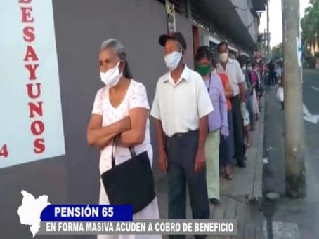 EN FORMA MASIVA ACUDEN A COBRO DE BENEFICIO PENSIÓN 65