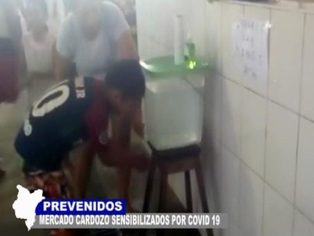 PREVENIDOS EN MERCADO CARDOZO VENDEDORES SENSIBILIZADOS POR ALERTA DEL CORONAVIRUS