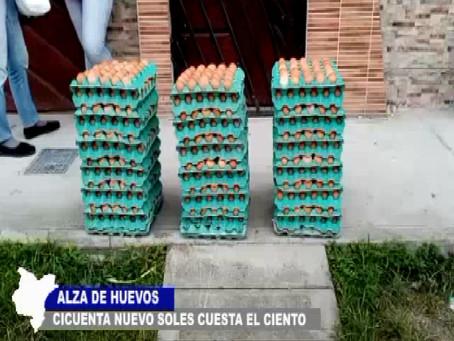ALZA DE HUEVOS SE COTIZA A 50 SOLES EL CIENTO