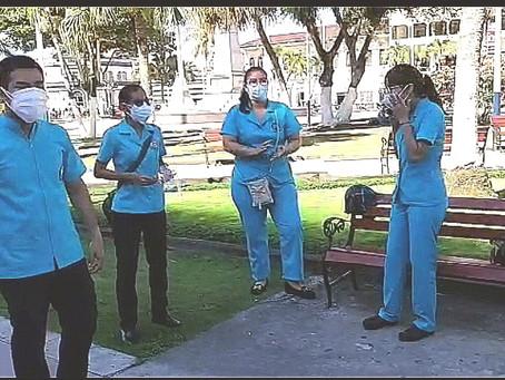 ESTUDIANTES DE ENFERMERÍA PROTESTAN PIDIENDO INICIO DE SUS INTERNADO