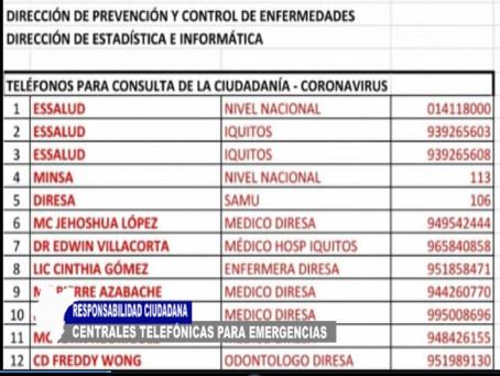 RESPONSABILIDAD CIUDADANA CON CENTRALES TELEFÓNICAS PARA EMERGENCIAS