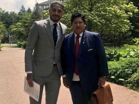 Paolo Guerrero se reunió con el presidente de la FIFA en Zúrich