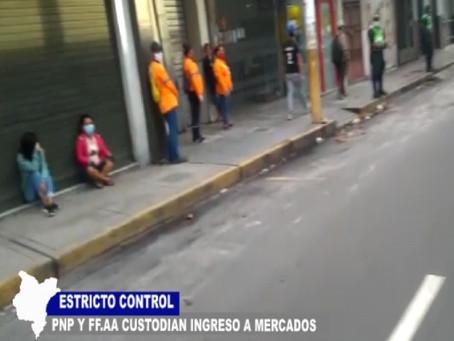 ESTRICTO CONTROL PNP Y FF.AA. CUSTODIAN INGRESO A MERCADOS