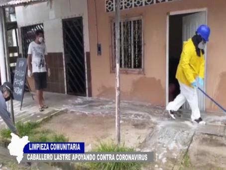 LIMPIEZA COMUNITARIA ZONA DE CABALLERO LASTRE APOYANDO CONTRA CORONAVIRUS