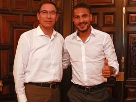 Martín Vizcarra se reunió con Paolo Guerrero en Palacio de Gobierno