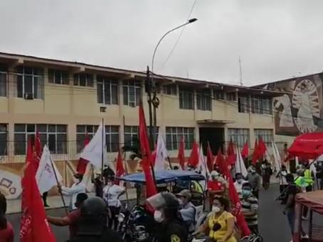 Movilización de la CGTP por el GORE ejecutivo