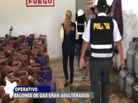 EN OPERATIVO SE ENCUENTRAN BALONES DE GAS QUE ERAN ADULTERADOS