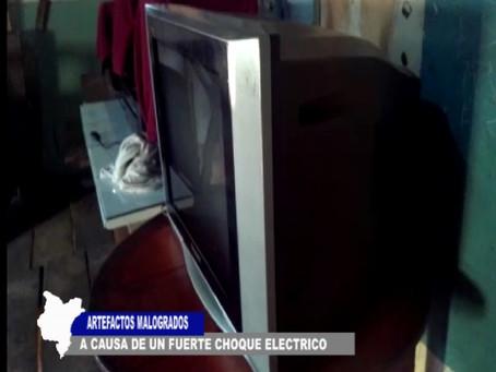 ARTEFACTOS QUEDARON MALOGRADOS A CAUSA DE FUERTE DESCARGA ELÉCTRICA