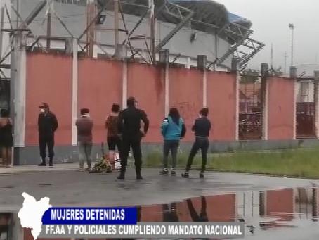 MUJERES DETENIDAS FUERZAS ARMADAS Y POLICIALES CUMPLIENDO MANDATO NACIONAL