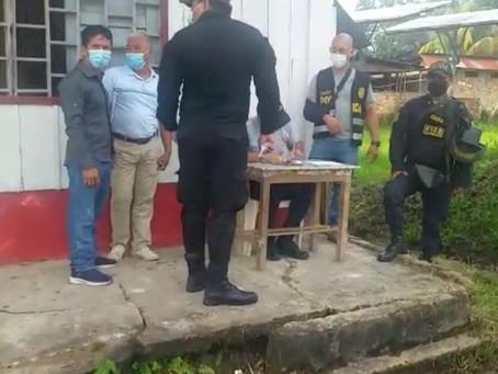 INICIAN INVESTIGACIONES TRAS INCENDIO EN JENARO HERRERA Firma de acta con presencia de autoridades