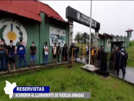 RESERVISTAS ACUDIERON AL LLAMAMIENTO DE FUERZAS ARMADAS