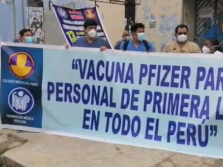 MÉDICOS PIDEN TERCERA DOSIS CON VACUNA PFIZER