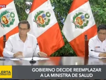 Ministra de Salud será reemplazada por profesional capacitado para afrontar lucha contra Coronavirus