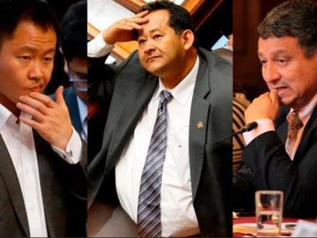 Recomiendan destituir del Congreso a Kenji, Bocángel y Ramírez