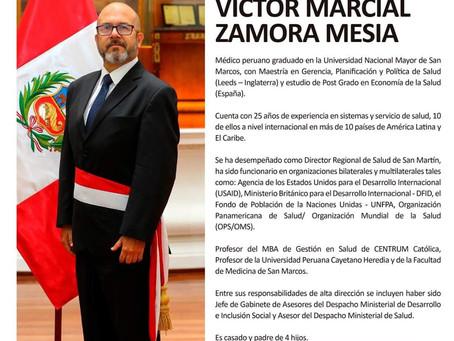 Víctor Zamora Mesía es el nuevo ministro de Salud