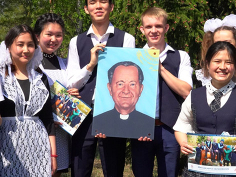 Ein neues Glasbild von Pater Lorenz Gawol