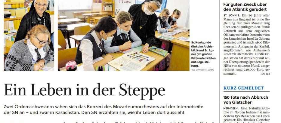 Sankt Lorenz in den Salzburger Nachrichten