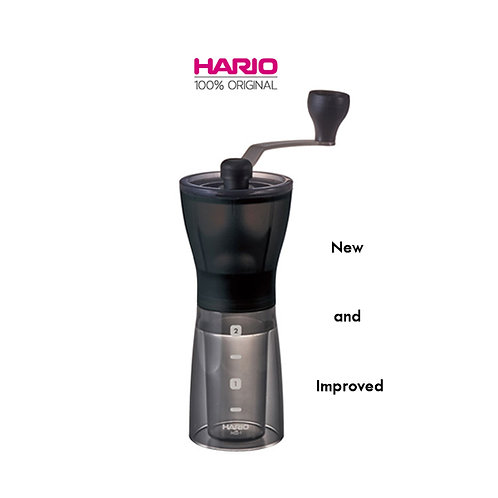 Original HARIO Mini Slim Plus Hand Coffee Grinder With Ceramic Burr (MSS-1DTB)