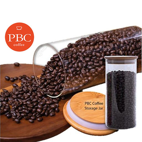 PBC Airtight Coffee Beans Storage Jar, 200 G Capacity