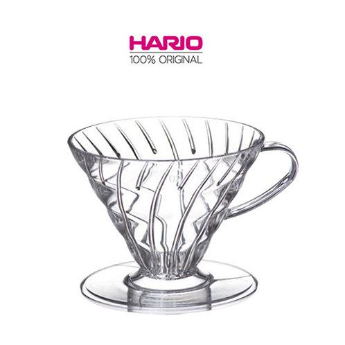 Original HARIO V60 Plastic Dripper Coffee Maker, 02, Transparent