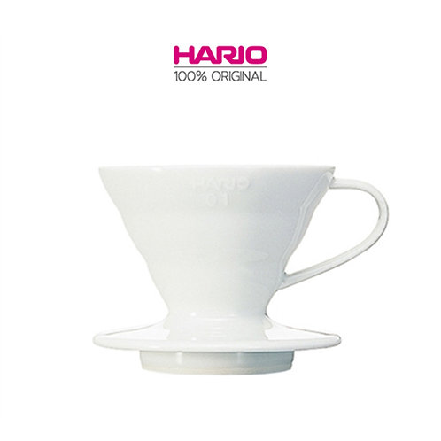 Original HARIO V60 Ceramic Dripper Coffee Maker, 01, White
