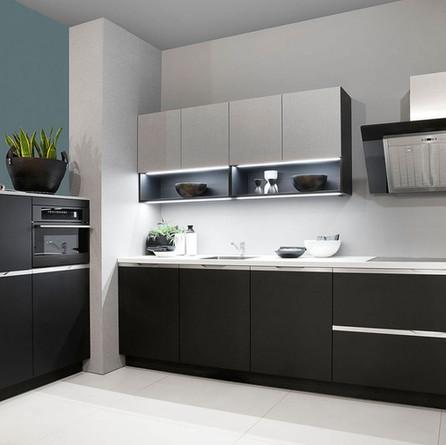 № RP 32 Кухня Rotpunkt Küchen Zerox - Black FM | Zerox - Tessilo FM
