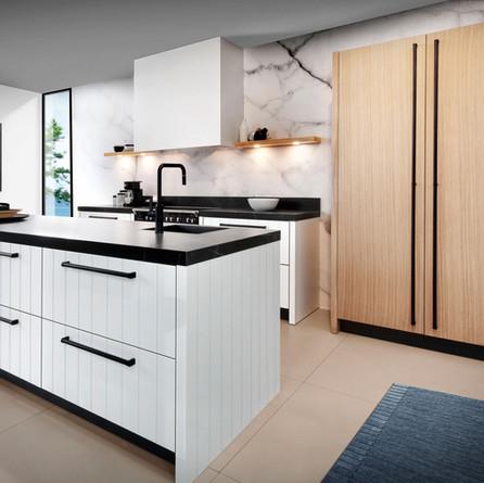 № RP 42 Кухня Rotpunkt Küchen Duet - White LX | Memory - New Forest Oak CL
