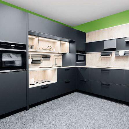 № RP 31 Кухня Rotpunkt Küchen Zerox - Carbon HPL XT