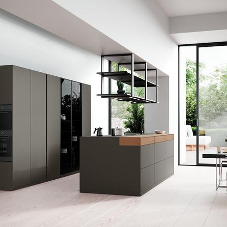 № RP 50 Кухня Rotpunkt Küchen Zerox HPL XT - Clay Dark | Zerox HOR FM - City Nature Oak