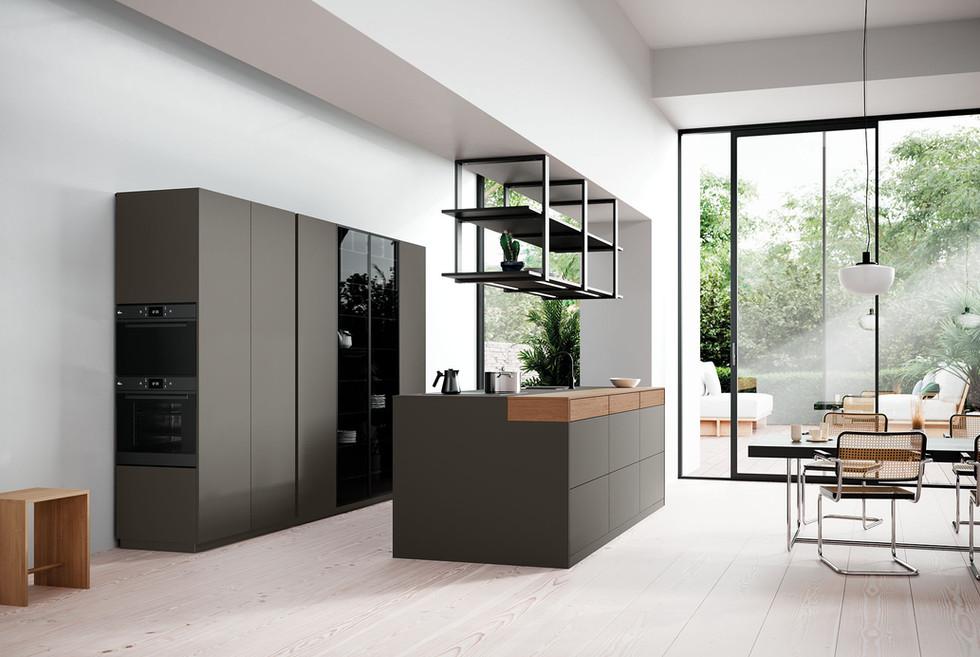 RotPunkt Küchen Zerox HPL XT - Clay Dark