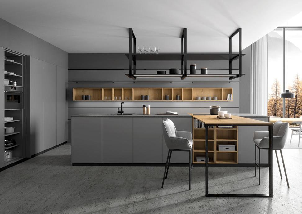 NEW! Rotpunkt Küchen Zerox HPL XT Lava Zerox VER SY | Nature Split Oak