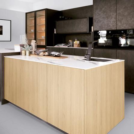 № RP 14 Кухня Rotpunkt Küchen Iron - Brown Steel KQ | Zerox - City Nature Oak FM