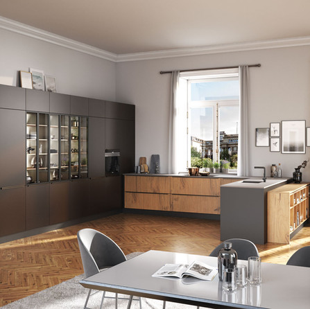 № RP 35 Кухня Rotpunkt Küchen Zerox Edition - Abbey Split Oak KQ | Zerox - Arabica XT