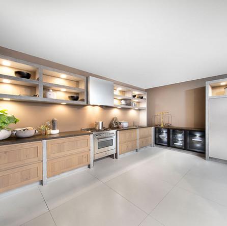 № RP 03 Кухня Rotpunkt Küchen Ergo - Pastel Smoke FL | Jewel - Pearl Chrome PS