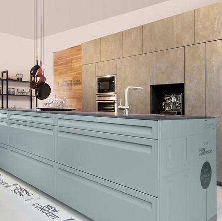 № RP 18 Кухня Rotpunkt Küchen Iron - Goldrush KQ | Informa - Verde LX