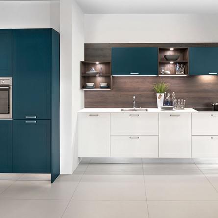 № RP 25 Кухня Rotpunkt Küchen Mikron - White MX | Mikron - Deep Blue LX