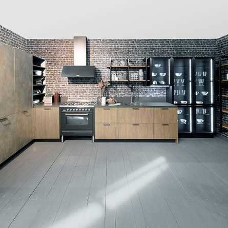 № RP 16 Кухня Rotpunkt Küchen Zerox - Sherwood Bronx SY | Iron - Goldrush KQ